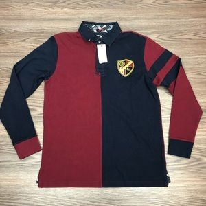 Tommy Hilfiger NWT Navy & Red Rugby Shirt M